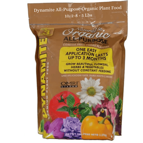 Dynamite All-Purpose Organic Plant Food 10-2-8 - 5 lbs