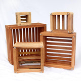 Square Wooden Basket - Waldor Orchids