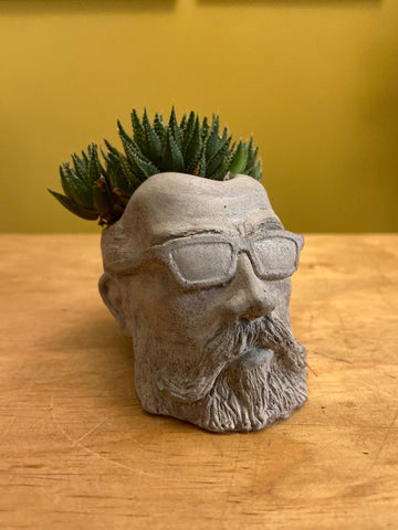 Hipster Dad Concrete Planter