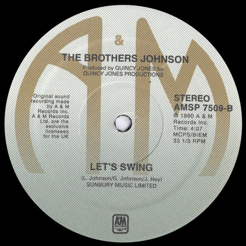The Brothers Johnson - Let's Swing / Stomp!