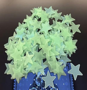 50pcs 3D Stars Glow In The Dark Wall Stickers For Kids Room