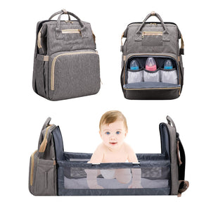 Convertable Mommy Backpack + Portable Baby Bed