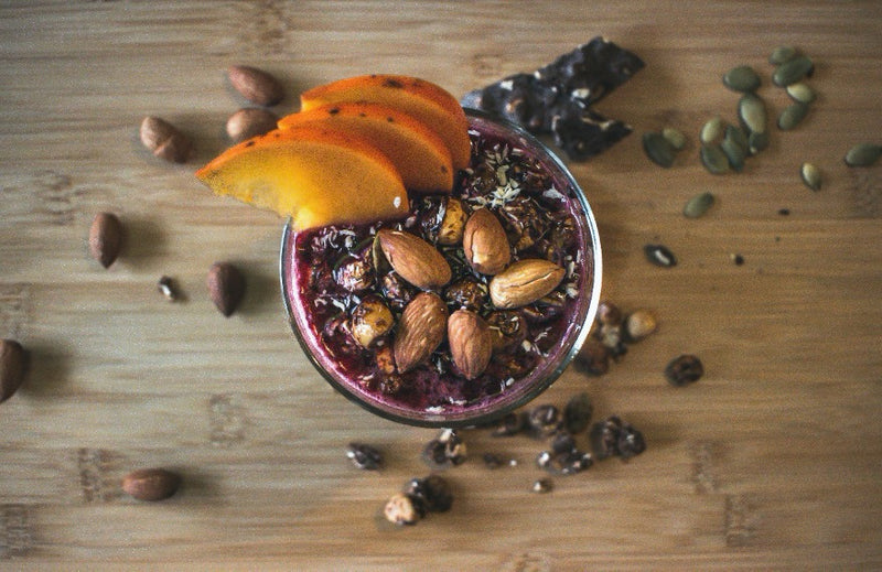 CHIA SEED ALMOND BERRY PUDDING