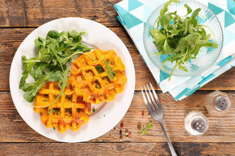 SPICED SWEET POTATO WAFFLES