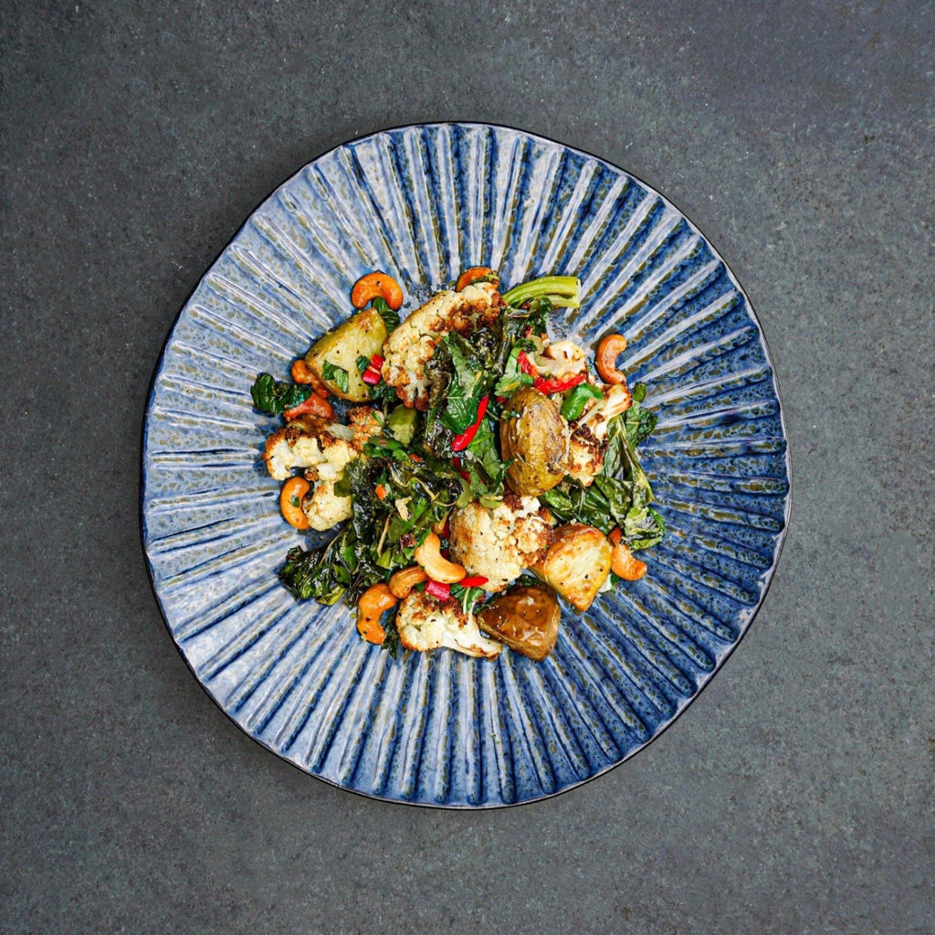 Neaum Za'atar Roasted Cauliflower, Spring New Potato, Chilli, Coriander and Cashew Salad