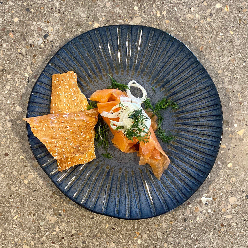 Cartmel Valley Game Smoked Salmon, Fennel & Dill Salad, Rye Cracker, Creme Fraiche