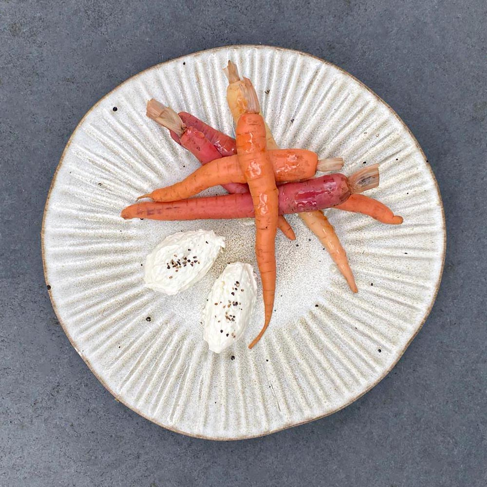 Neaum Pickled Carrots with Whipped Feta