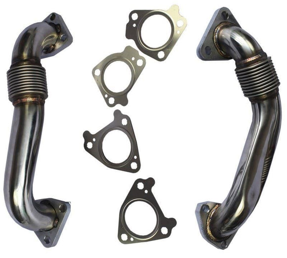 Duramax Heavy Duty Up Pipes + Gaskets 2007-2010 GMC Chevy LMM