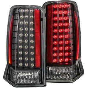 ANZO 311121 LED TAIL LIGHTS BLACK CLEAR 2002-2006 Escalade