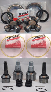 FORD 98-04 F250 F350 SUPERDUTY DANA 50/60 FRONT AXLE SEALS + U + BALL JOINTS SET