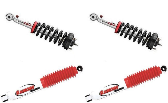 Rancho Quicklift Leveling Struts/Shock Kit FRONT+REAR Fits 2005-12 Nissan Frontier