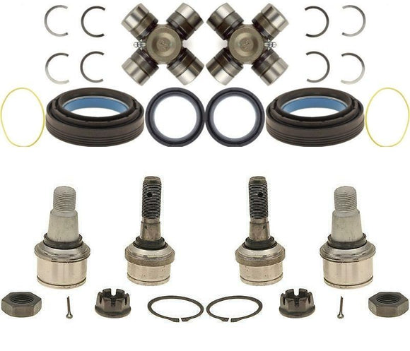 Dana 60 Axle Seals U-Joints and Ball Joints for 1998-04 F-250 F-350 Superduty