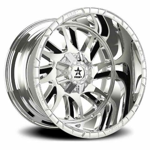 RBP Wheel 69R Swat 20x10 5-127/139.7 et neg 25 Chrome w/Blk Inserts  78mm cb