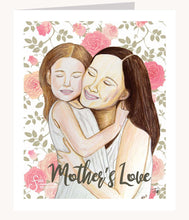 Load image into Gallery viewer, Mother's Love inspirational greeting card  of Mother & Daughter hugging