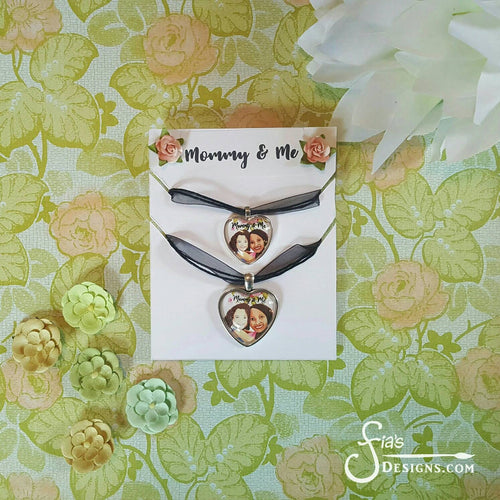 Mommy and Me Brown Girls matching Pendant Necklaces