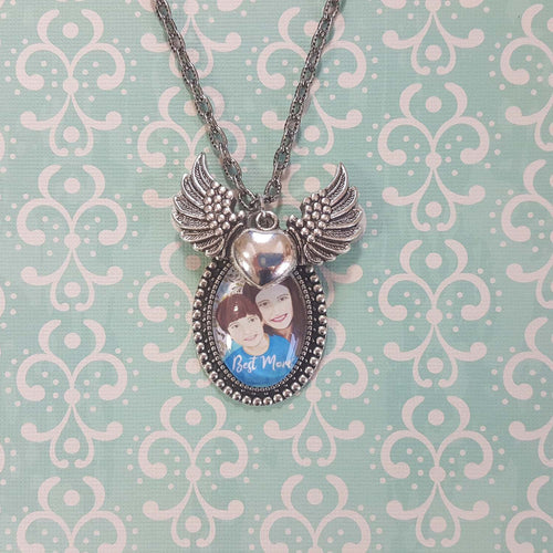 Best Mom Pendant Necklace of Mother and Son