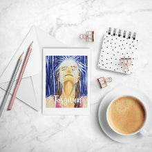 Load image into Gallery viewer, Forgiven inspirational greeting card of Woman in Rain