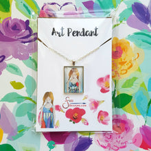 Load image into Gallery viewer, Just Breathe Pendant Necklace of blonde girl