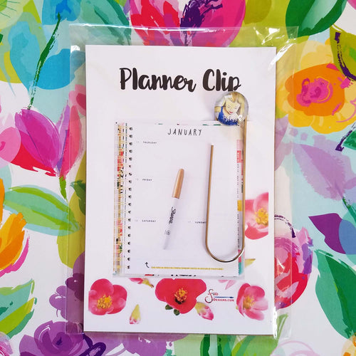 Blessed Planner Clip Bookmark of Blonde Girl