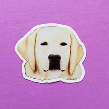 Load image into Gallery viewer, Yellow Lab Dog Vinyl Art Sticker