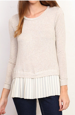 Pleated Oatmeal Top