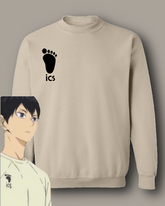 ICS Haikyuu Embroidered Pullover Sweatshirt