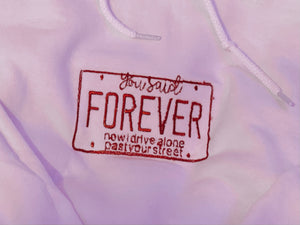 You Said Forever Embroidered Pullover Sweatshirt