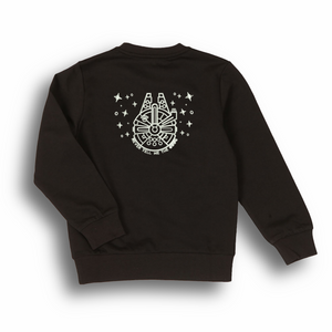 Millennium Falcon embroidered sweatshirt