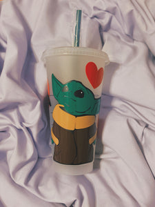 Yoda one for me starbucks cup