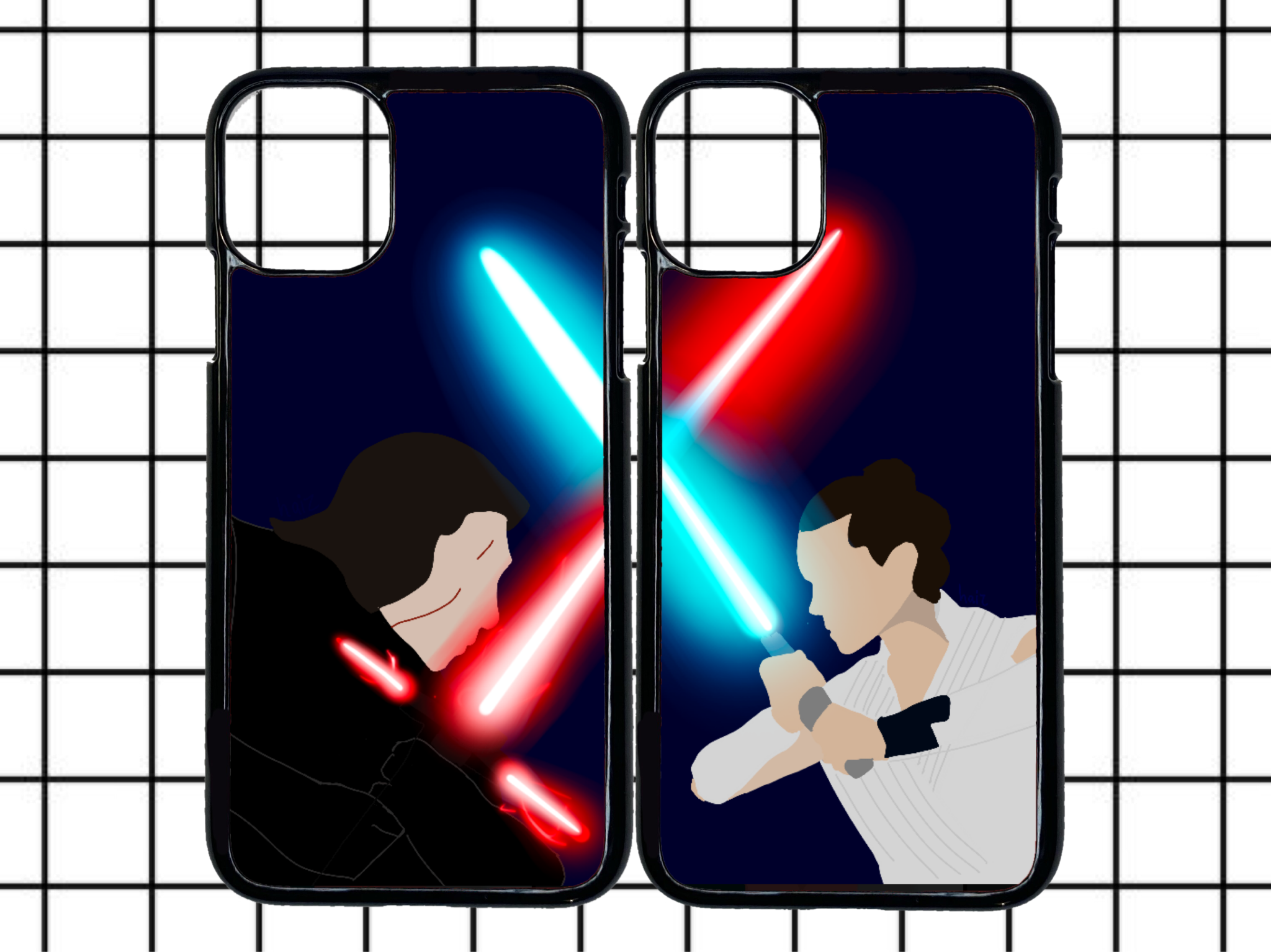 Kylo & Rey (2 cases) phone case duo pack