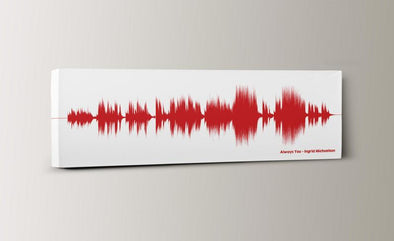 Our Wedding Song - Custom SoundWave Personalized Art