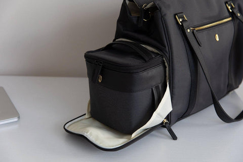 Image of pump bag with breastmilk cooler bag fits perfectly