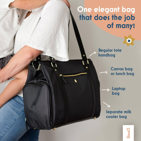 Image of one breast pump bag that does the job of many