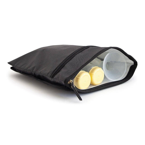 Image of wet/dry bag for medela and spectra breast pump accessories and parts bottles