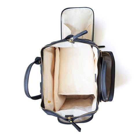 breast pump backpack top view empty
