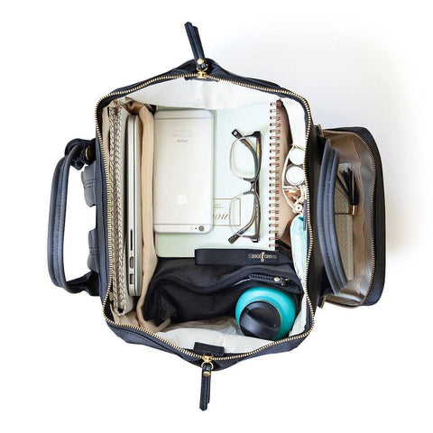 Image of breast pump backpack top view full
