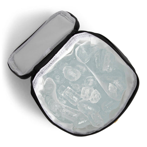 Image of waterproof milk cooler holding ice without leaking