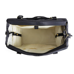 breast pump bag internal view insulated cooler side pockets closed