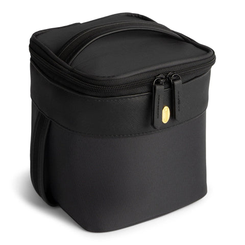Image of one of the best cooler bags, black, side angled view