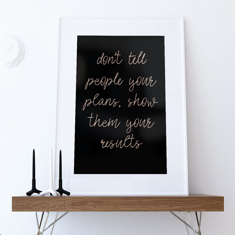 Don't tell people - Print