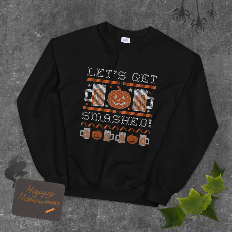 Let's Get Smashed Ugly Halloween Sweater