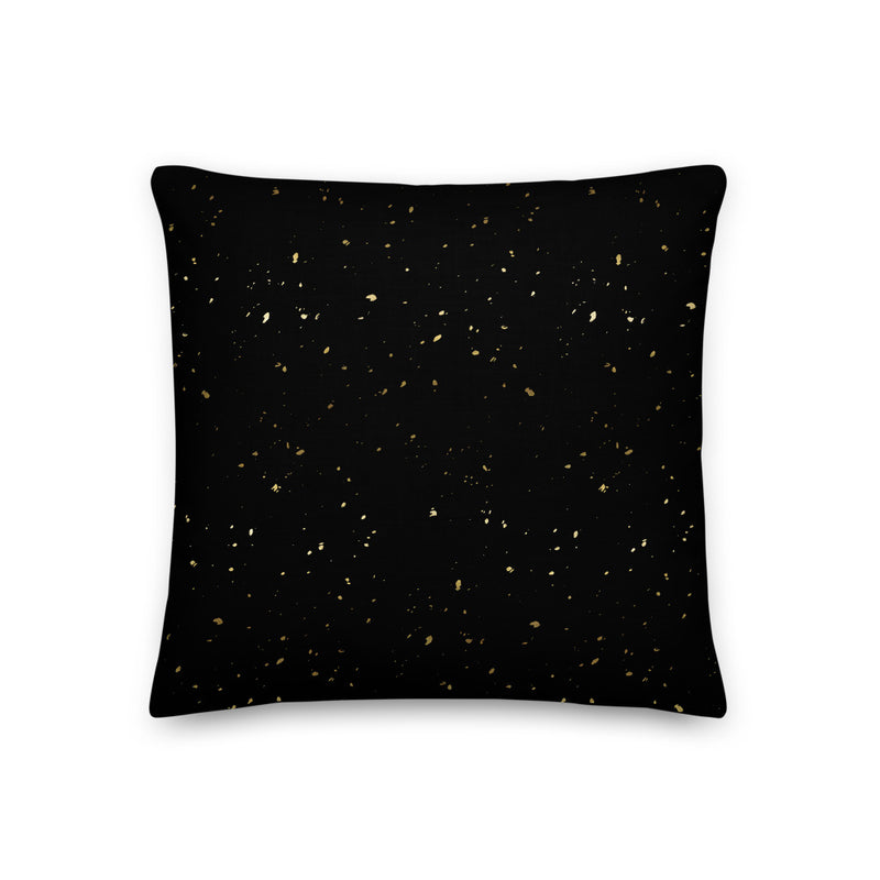 Gold Speckles Decorative Pillow