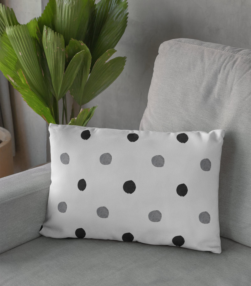 Black & White Polka Dot Decorative Pillow