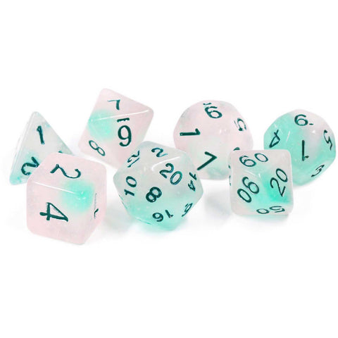 Dice Set - Frosted Glowworm