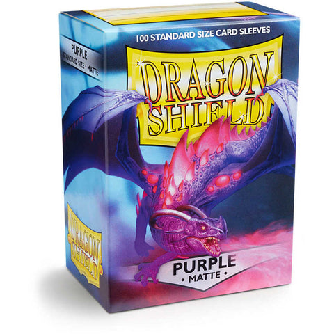 Dragon Shield Sleeves: Standard- Matte Purple (100 ct.)
