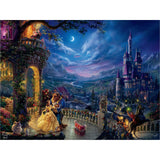 Beauty and the Beast Dancing in the Moonlight, 300 Piece Puzzle, Thomas Kinkade
