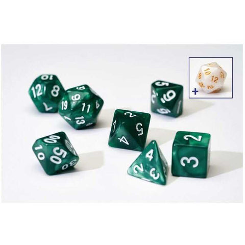 Dice Set - Pearl Green Acrylic