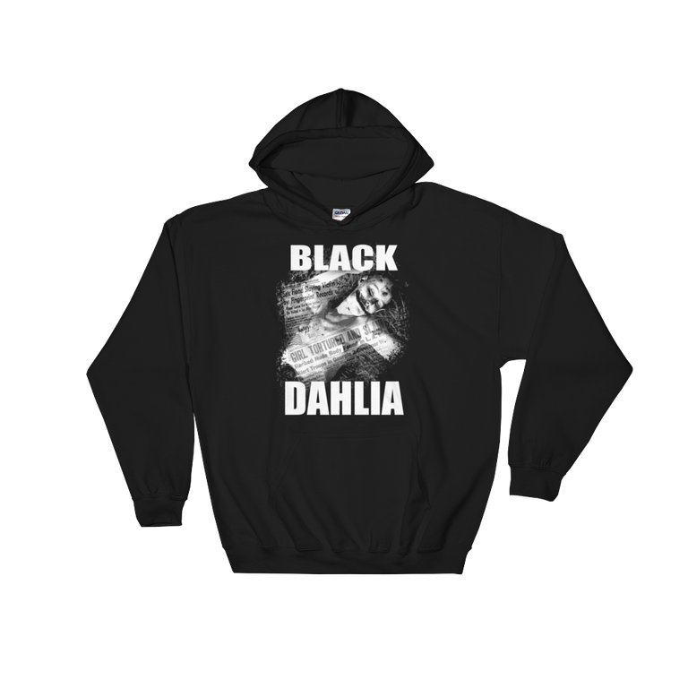 """Black Dahlia"" Hooded Sweatshirt"