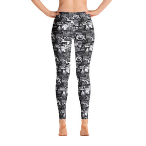 Murder News Leggings Black