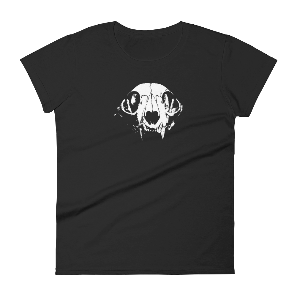Cat Skull ladies t-shirt